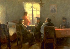 """Samuel Hirszenberg The Sabbath Rest"" by Samuel Hirszenberg"