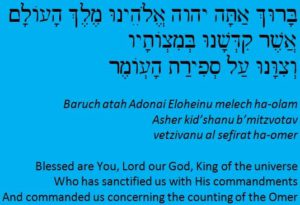 Omer Blessing In Hebrew